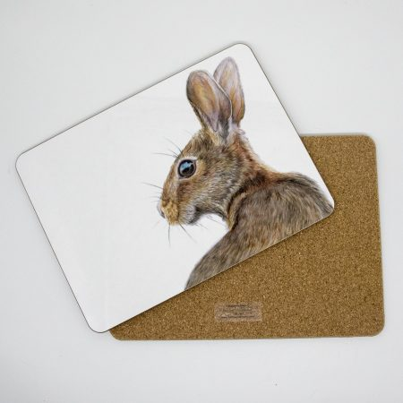 hare tablemat front back