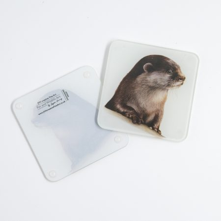 Otter glass coaster reverse