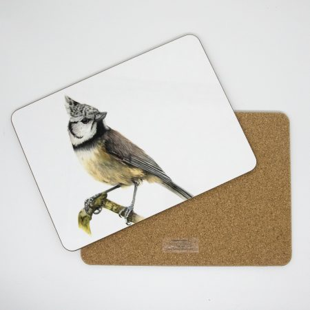 crested tit tablemat front and back
