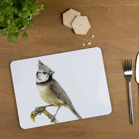 crested tit tablemat