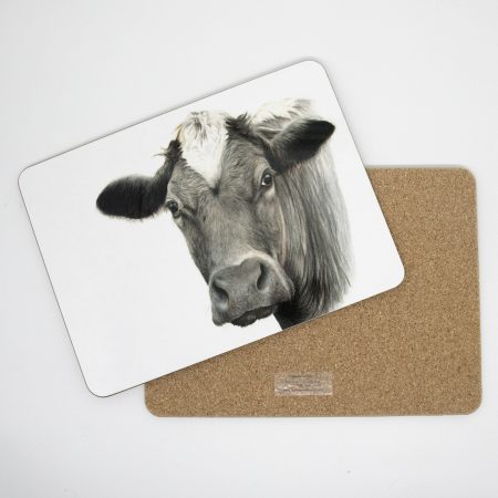 Cow tablemat front back
