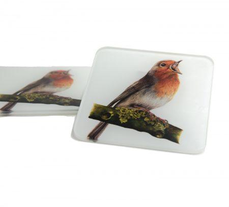 Robin Glass Coaster