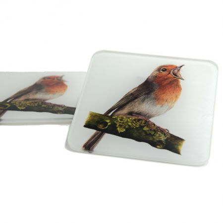 Robin Glass Coaster