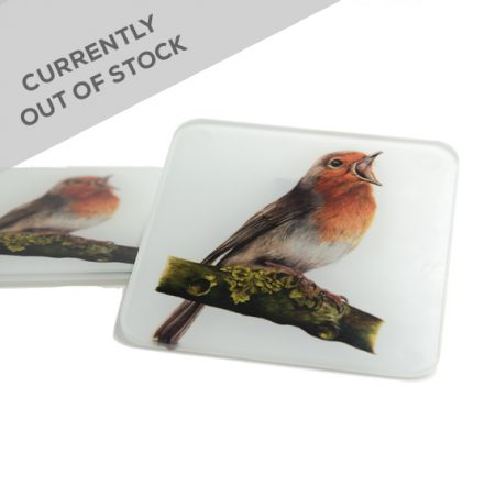 Robin Glass Coaster Out of stock