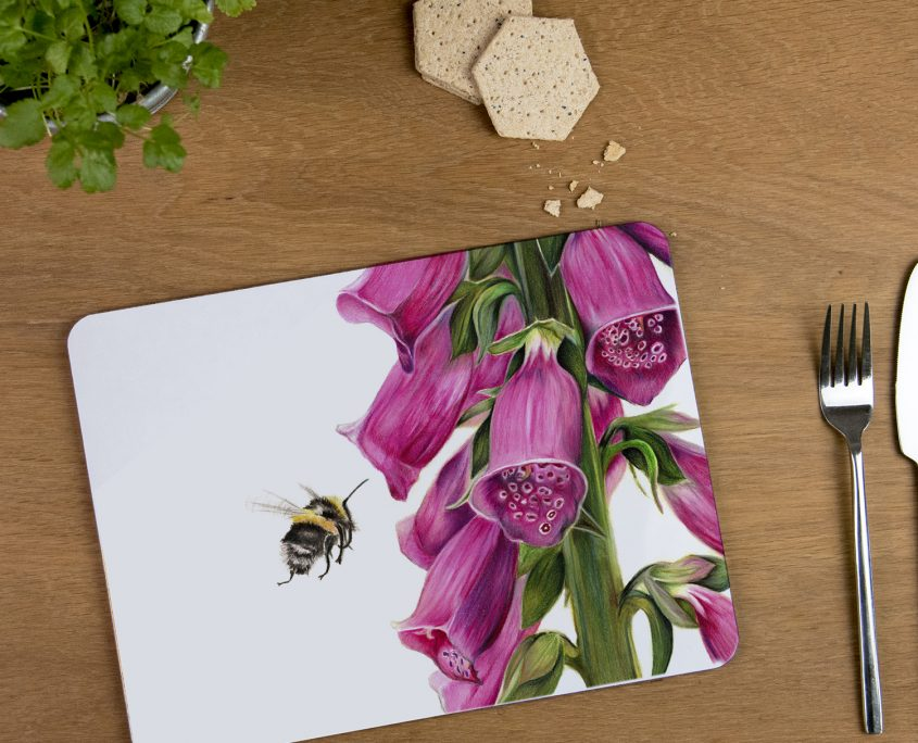 Bumblebee and Foxglove Tablemat