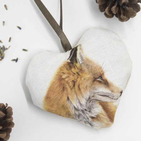 Fox Lavender Heart