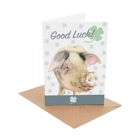 Good Luck Pig Card