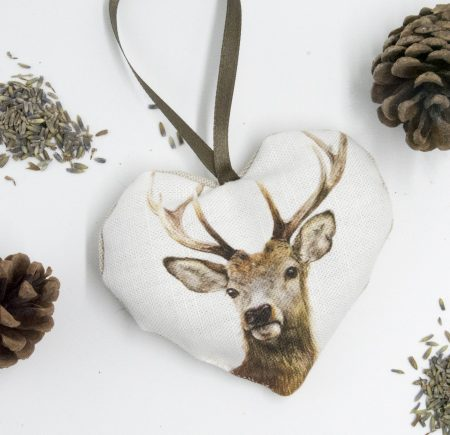 Stag Lavender Heart