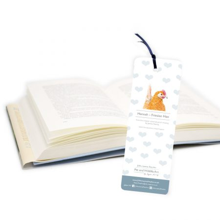 Hen Bookmark back