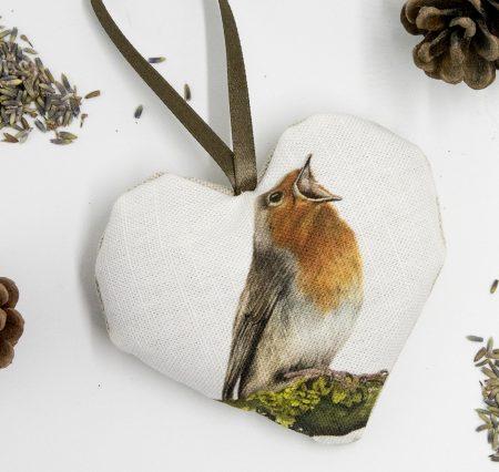 Robin Lavender Heart