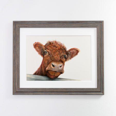 Cow Print Dark