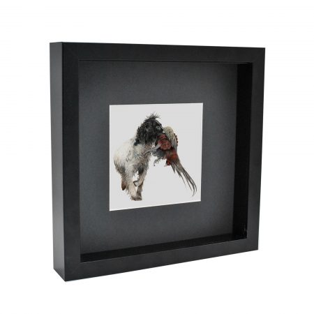 Working Spaniel Box Framed Black Frame