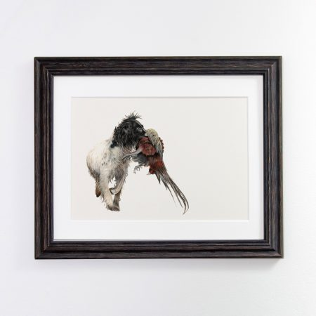 Spaniel Print black frame