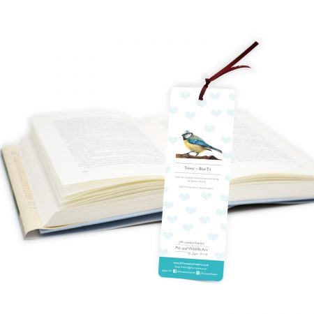 Blue Tit Bookmark Back