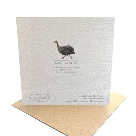 Guinea Fowl Card back