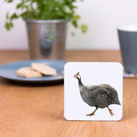 guinea fowl coaster