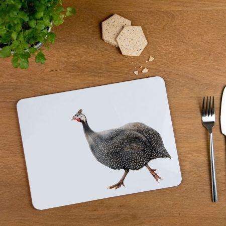 guniea fowl placemat