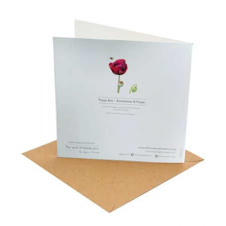 Poppy Bee Card Back