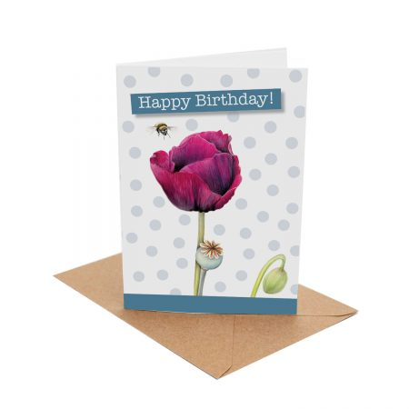 Poppy Bee Birthday Card