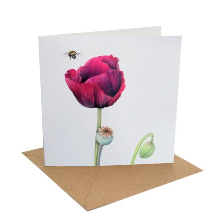 Poppy Bee Card