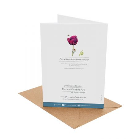 Poppy Bee Birthday Card back