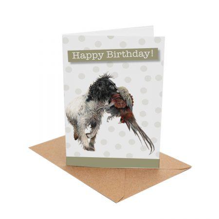 Working spaniel Birthday Card