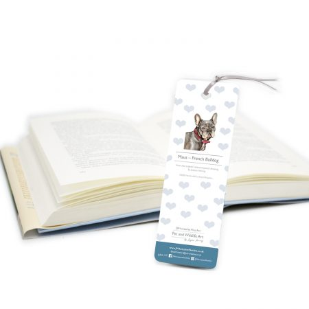 French Bulldog Bookmark back
