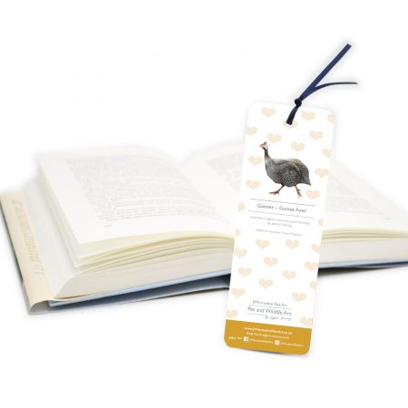 Guinea Fowl Bookmark Back