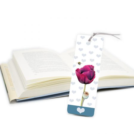 Poppy and Bee Bookmark