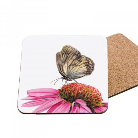echinacea coaster front and back