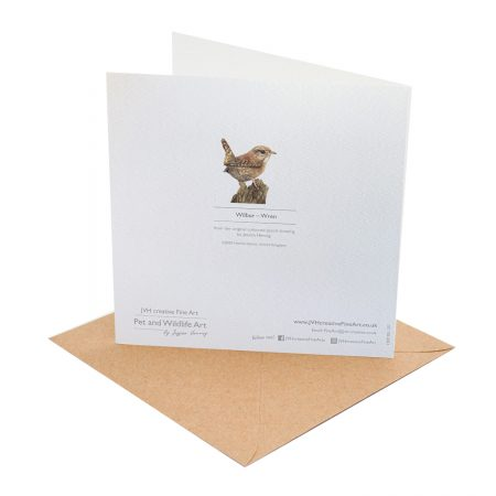 Wren Greeting Card back