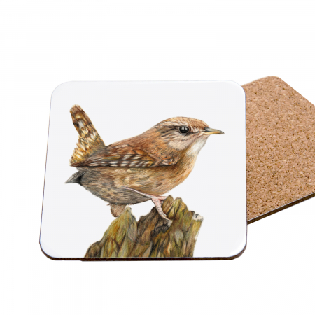 wren coaster front and back