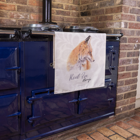 Fox Tea Towel on Aga