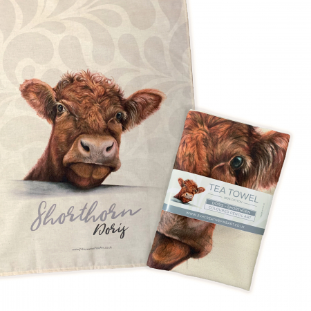 Shorthorn Tea Towel