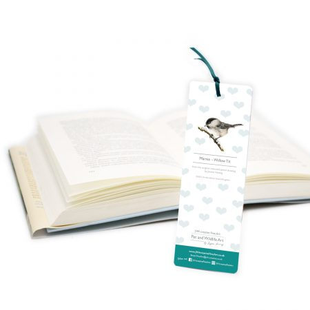 Willow Tit Bookmark Back