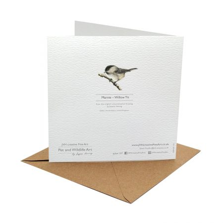 willow tit card back