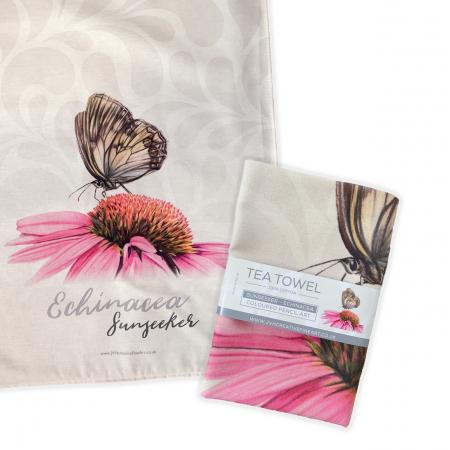 Echinacea Tea Towel