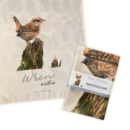 Wren Tea Towel