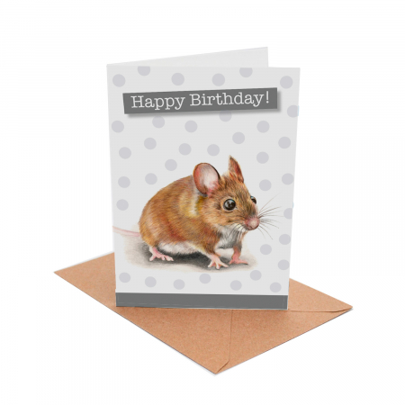 Mouse Birthday Card front